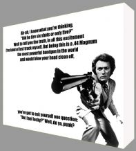 Dirty Harry Quote - Clint Eastwood - Canvas Art - Ready to Hang - Range of Sizes